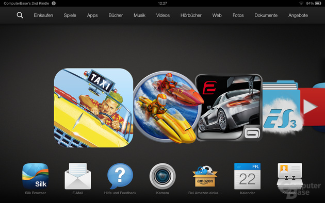 Kindle Fire OS 3.0 Homescreen