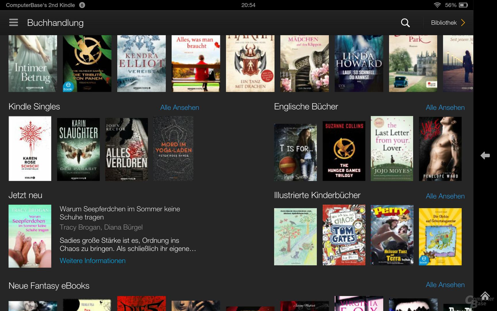 Kindle Fire OS 3.0 Buchhandlung