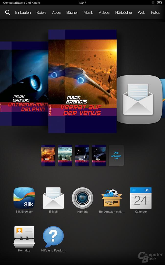 Kindle Fire OS 3.0 Werbung
