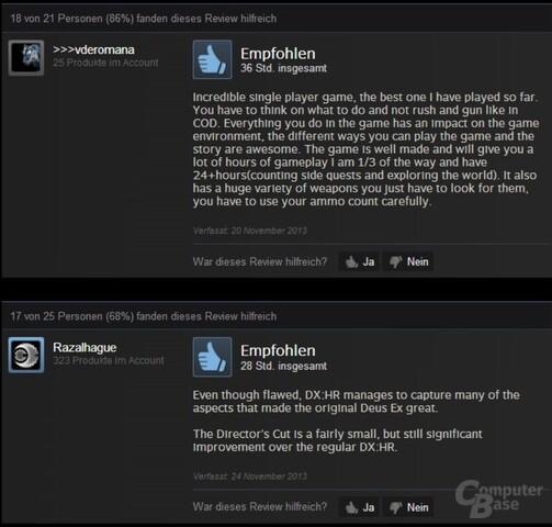Nutzerrezensionen von Deus Ex: Human Revolution