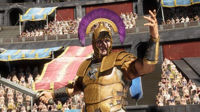 Schicke Charaktere in Gold-Violett