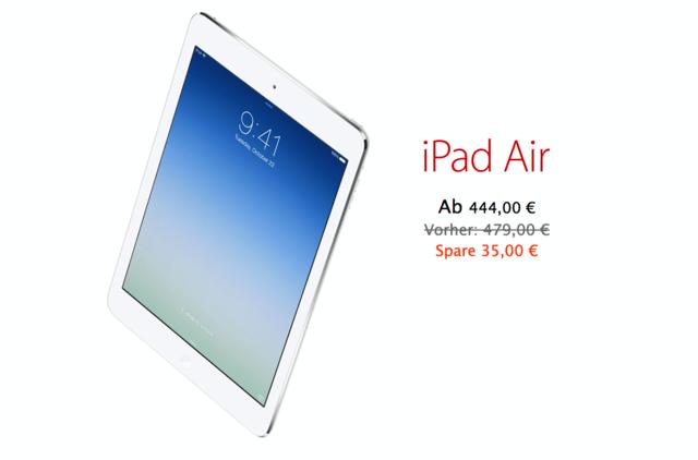 Nur heute mit Rabatt: Das iPad Air