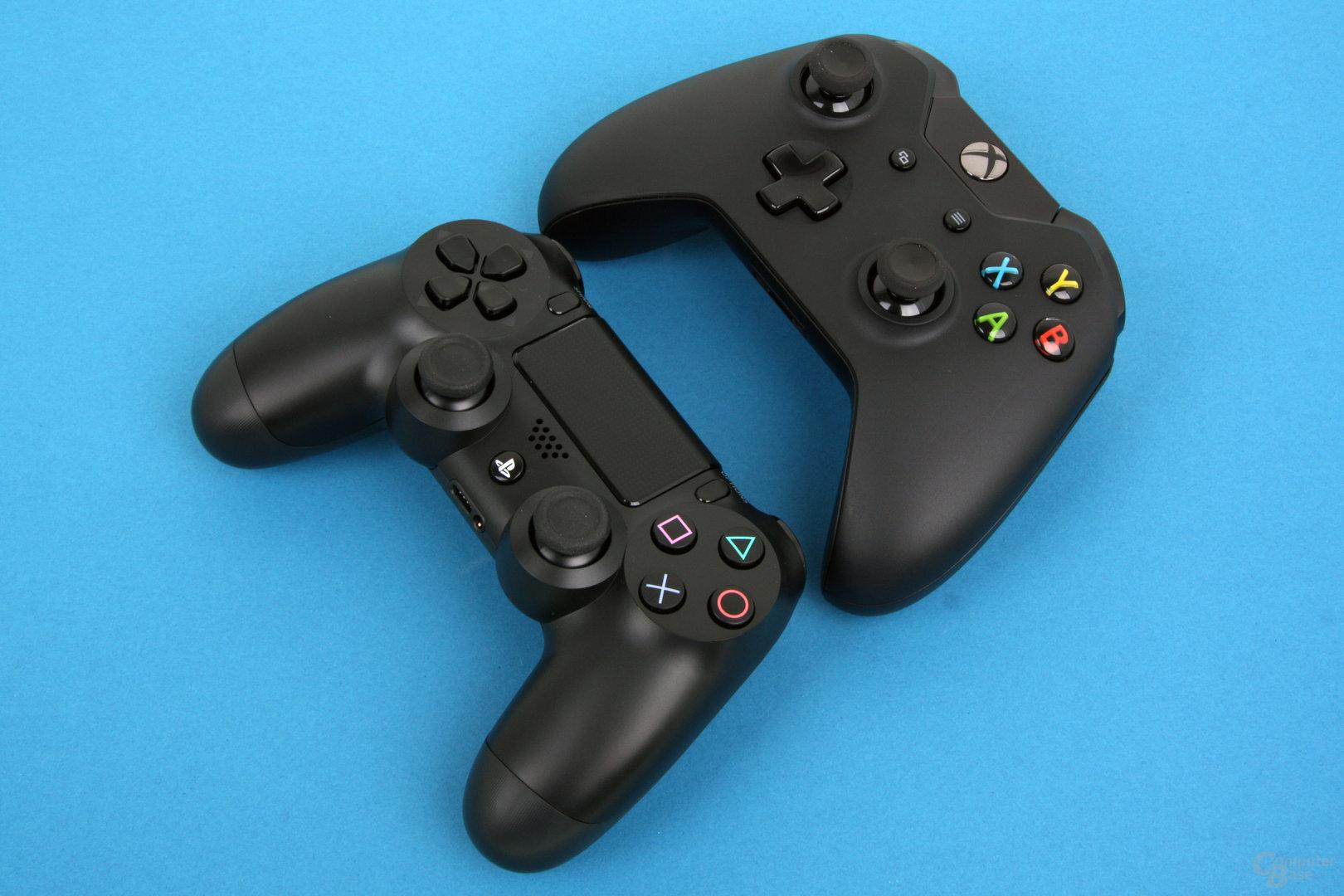 PlayStation 4: Dualshock 4 und Xbox One Controller