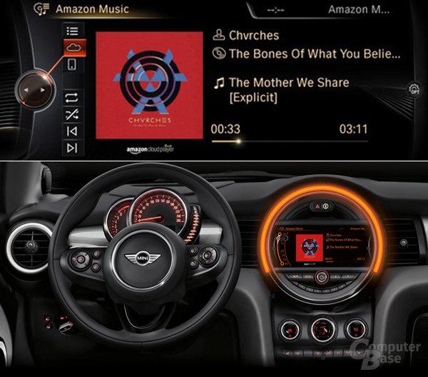 Amazon Cloud Player in BMW- und Mini-Modellen