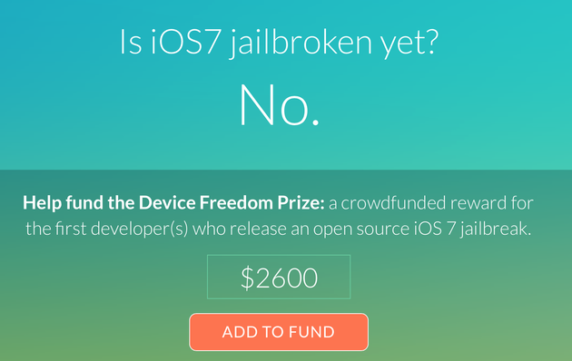 Kopfgeld per Crowdfunding für Jailbreak von iOS 7