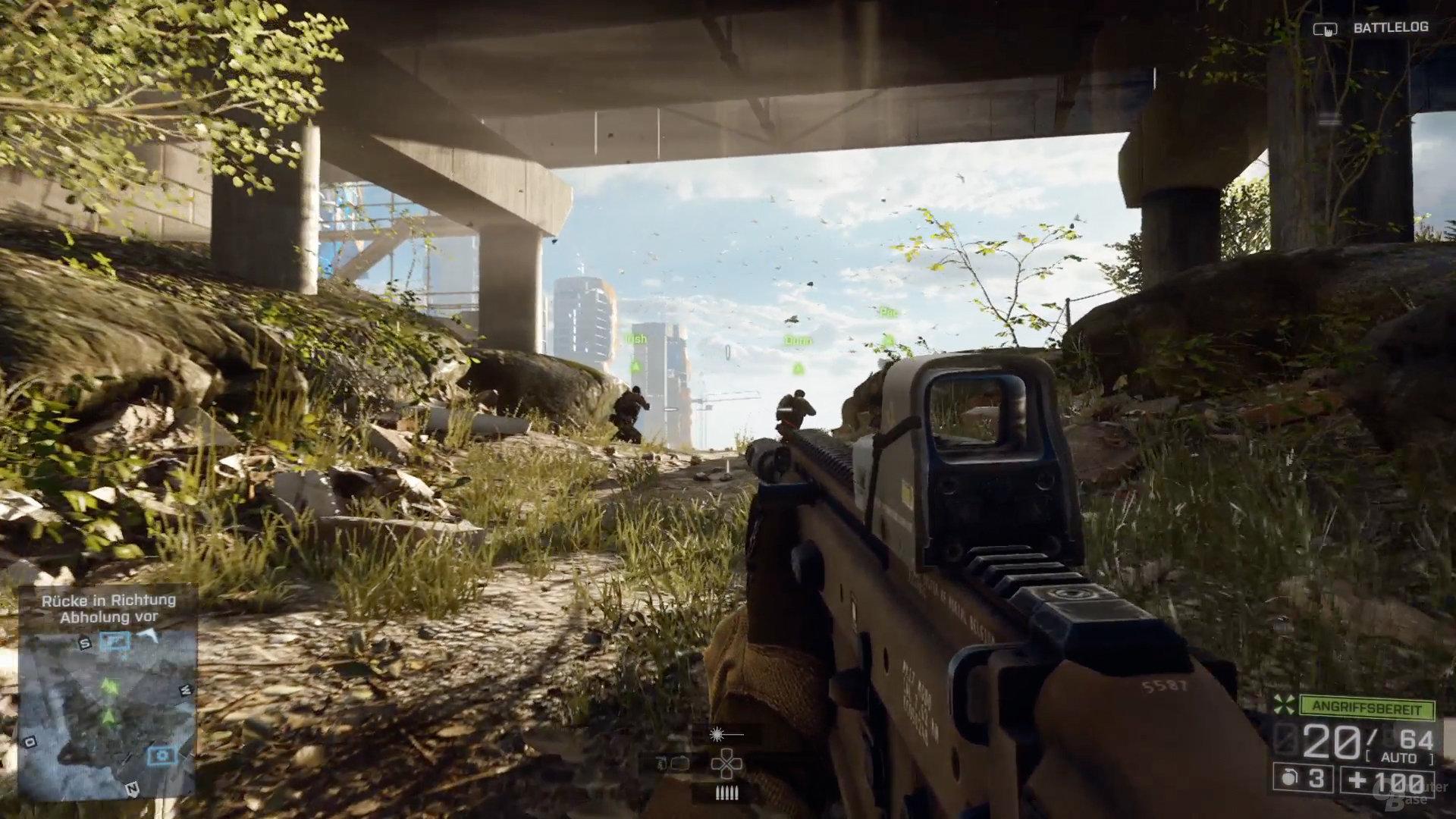 Vegetation am Boden auf der PlayStation 4