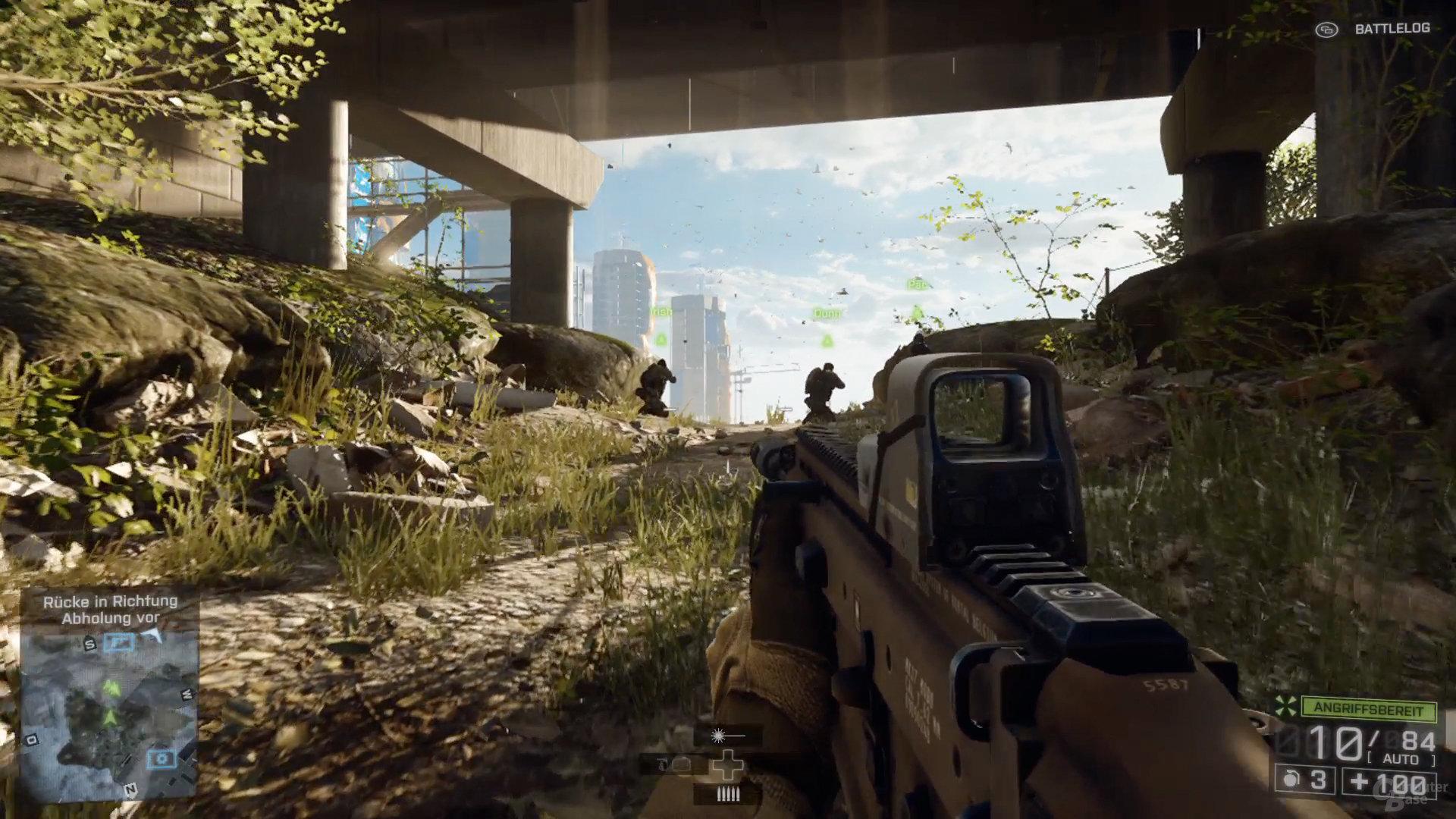 Vegetation am Boden auf der Xbox One
