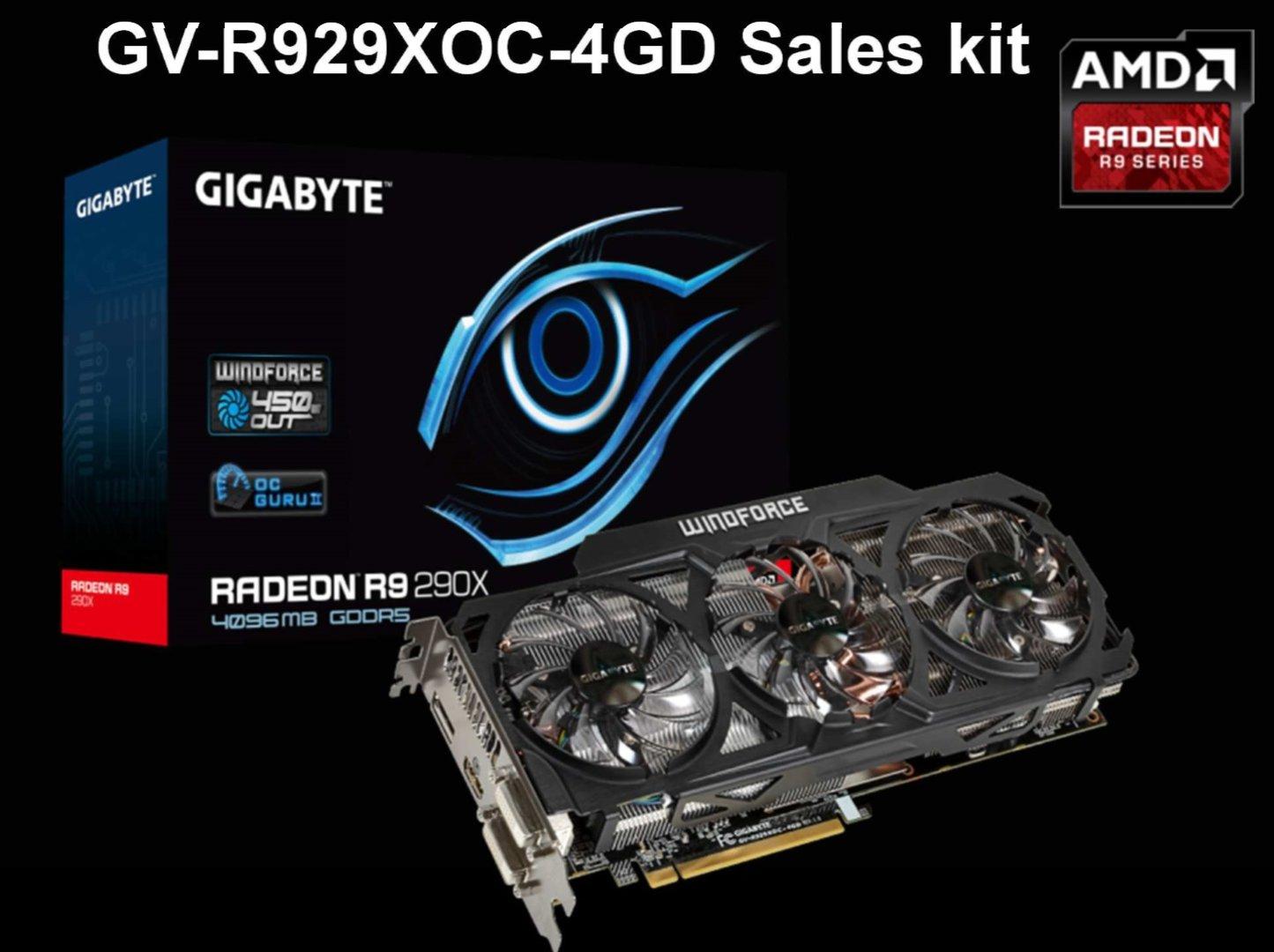 Gigabyte Radeon R9 290X OC WindForce 3X