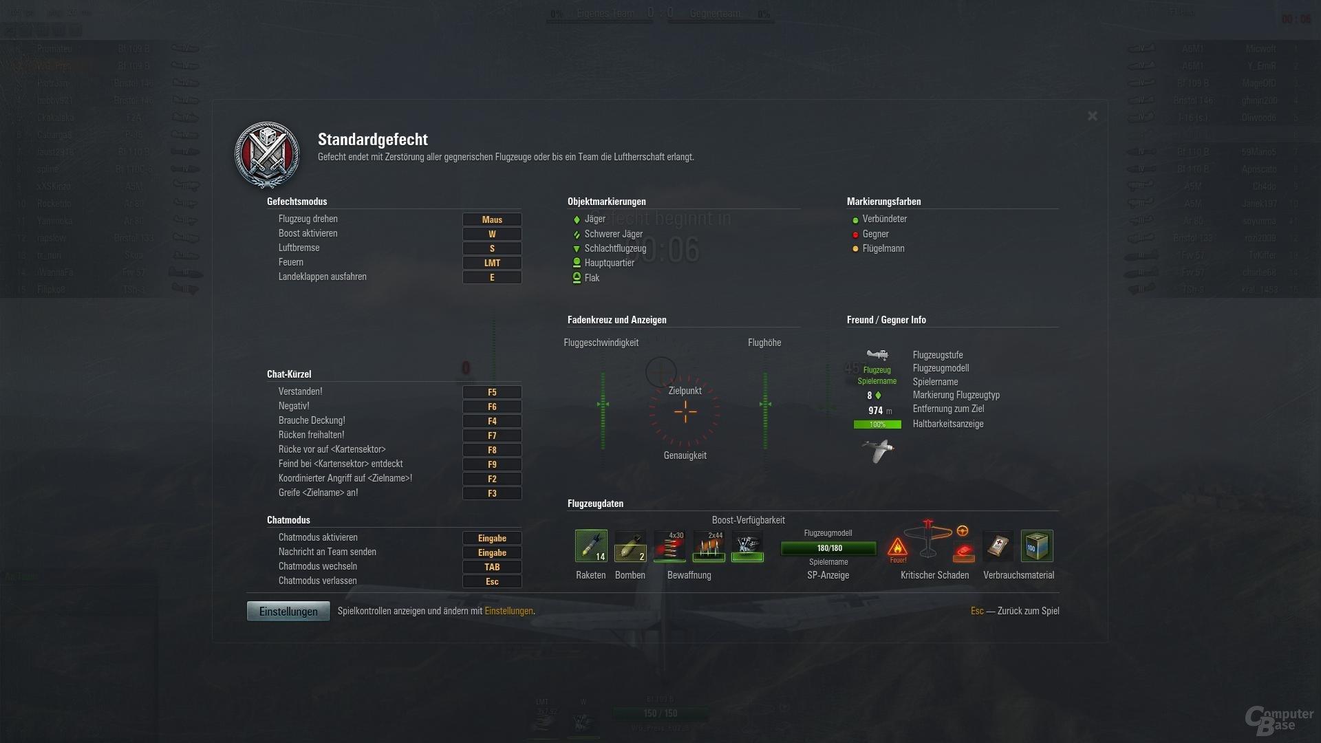 World of Warplanes – einfache Steuerung