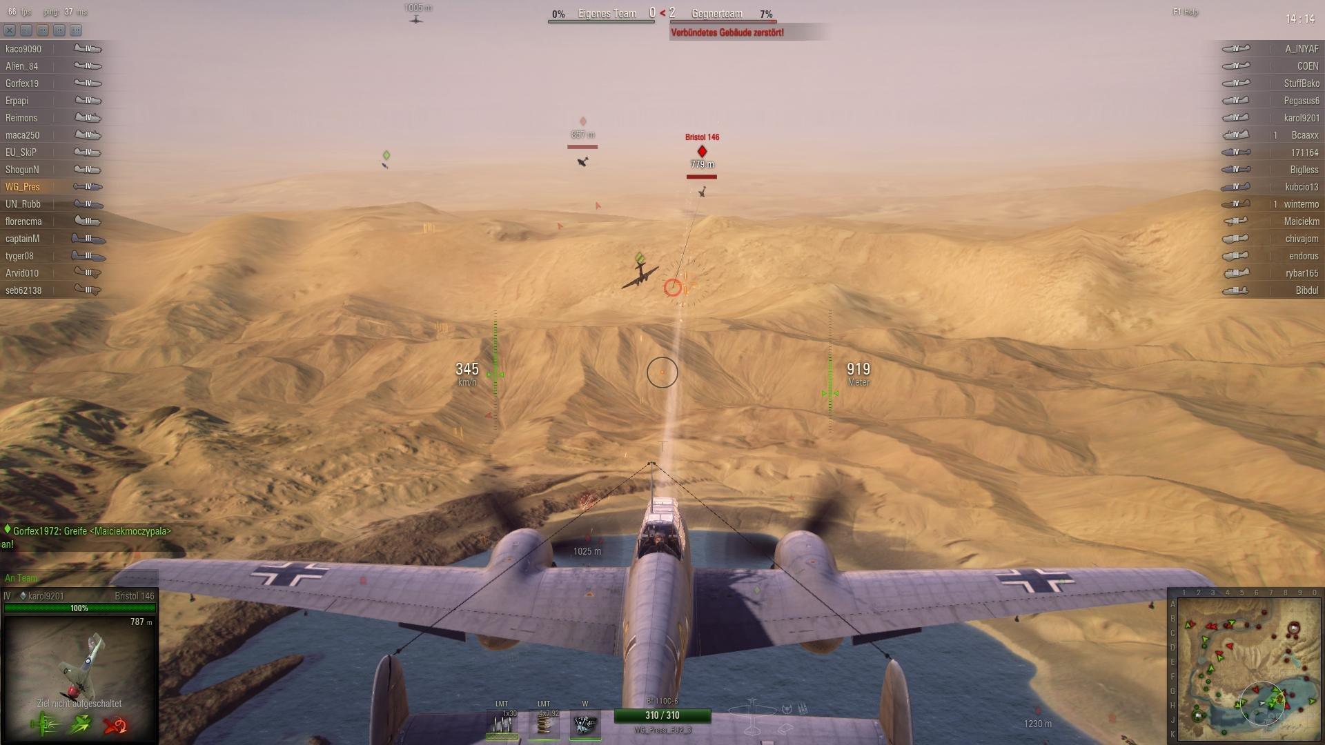 Manche Flugzeuge besitzen einen Heckschützen