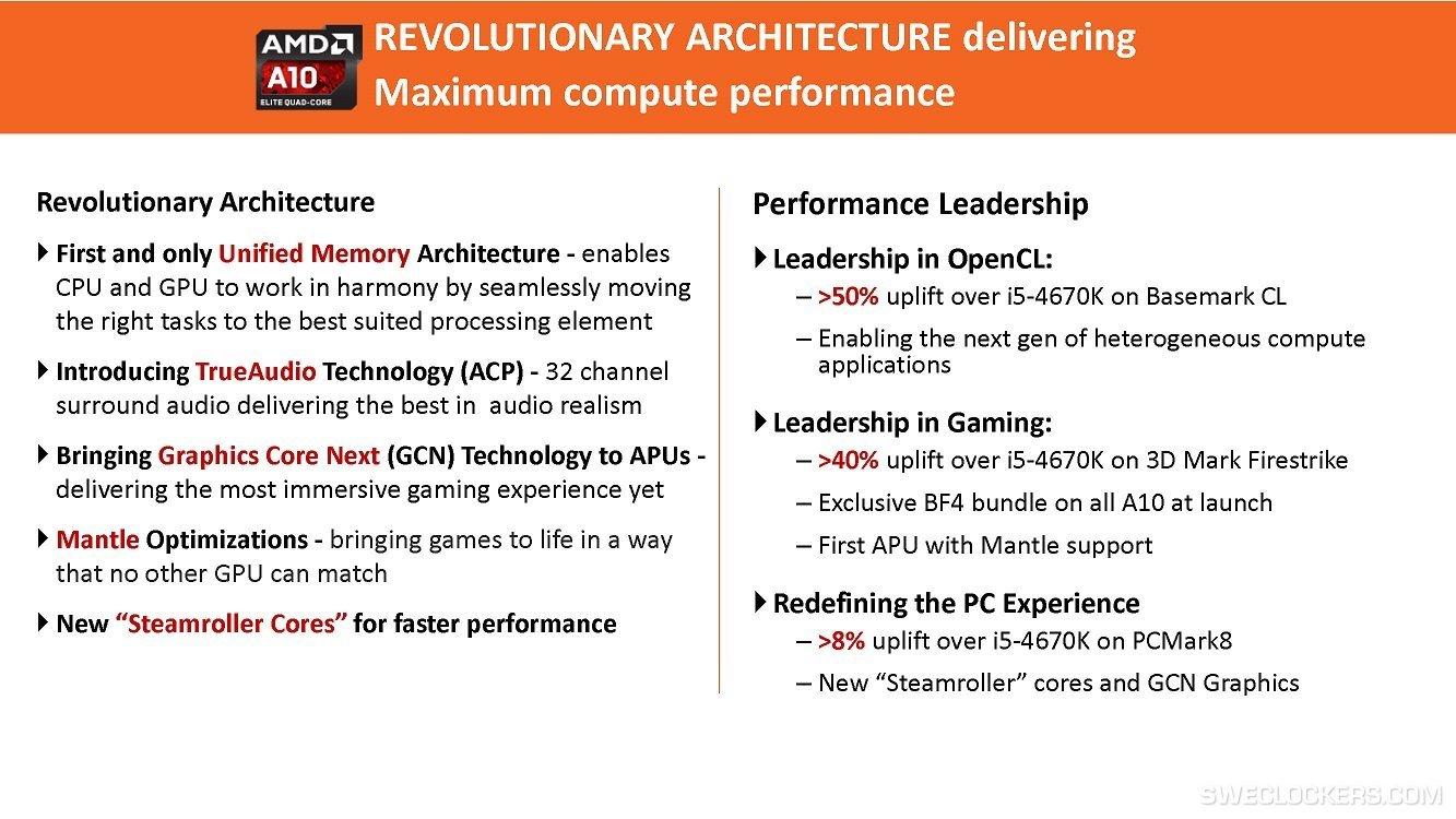 AMD wirbt für Kaveri: Benchmark-Vergleich mit Intel Core i5-4670K