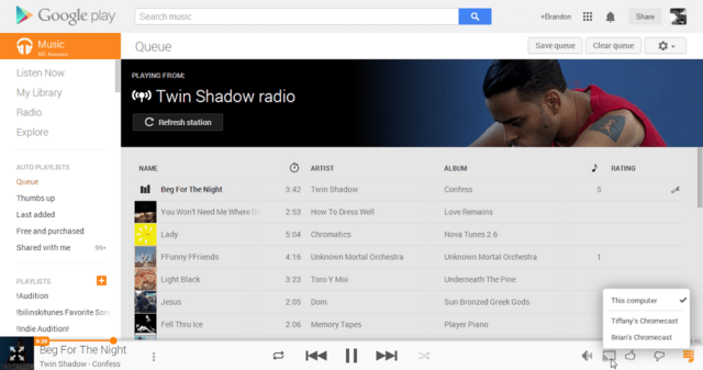Chromecast-Integration bei Google Play