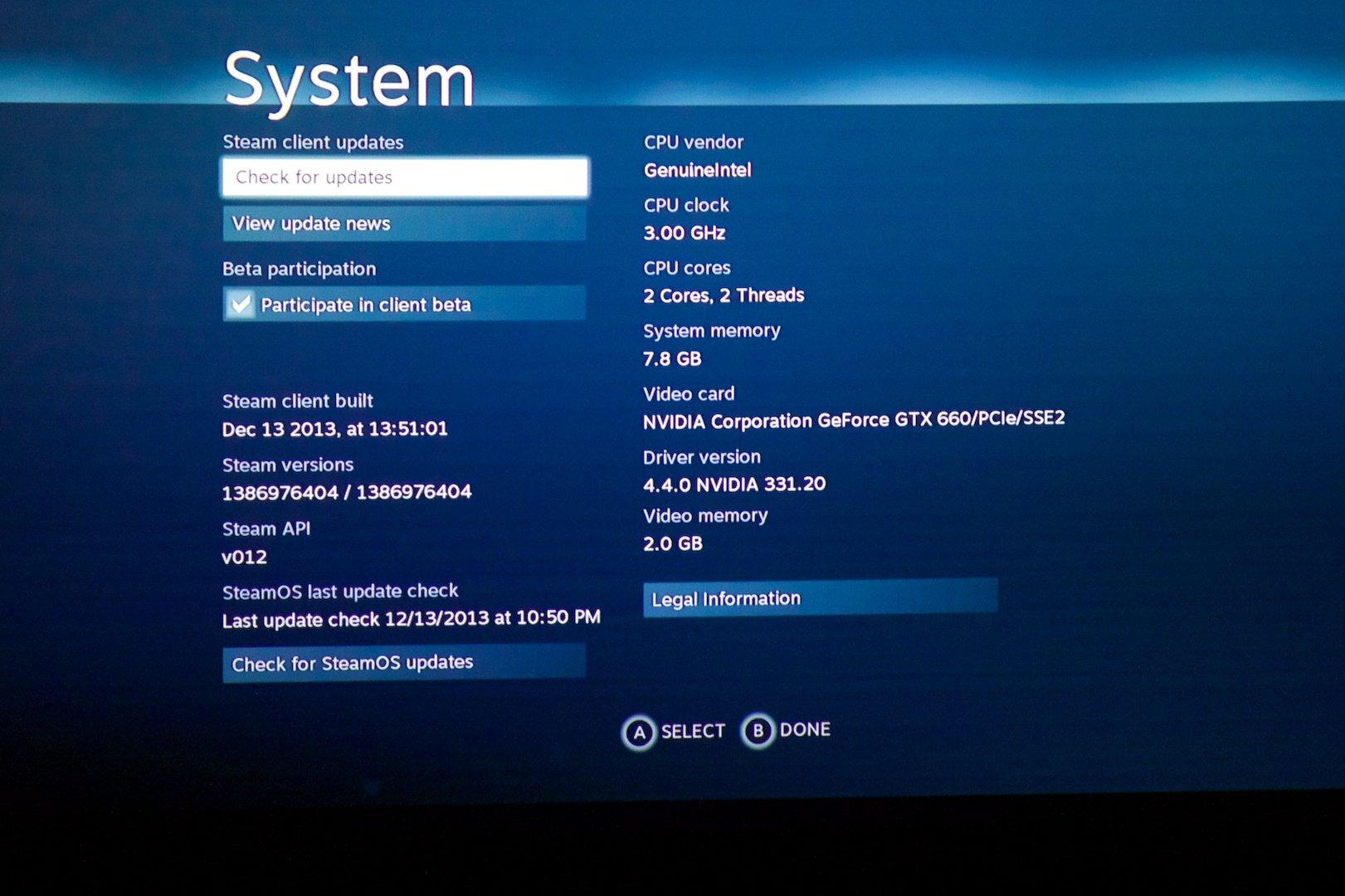 SteamOS System