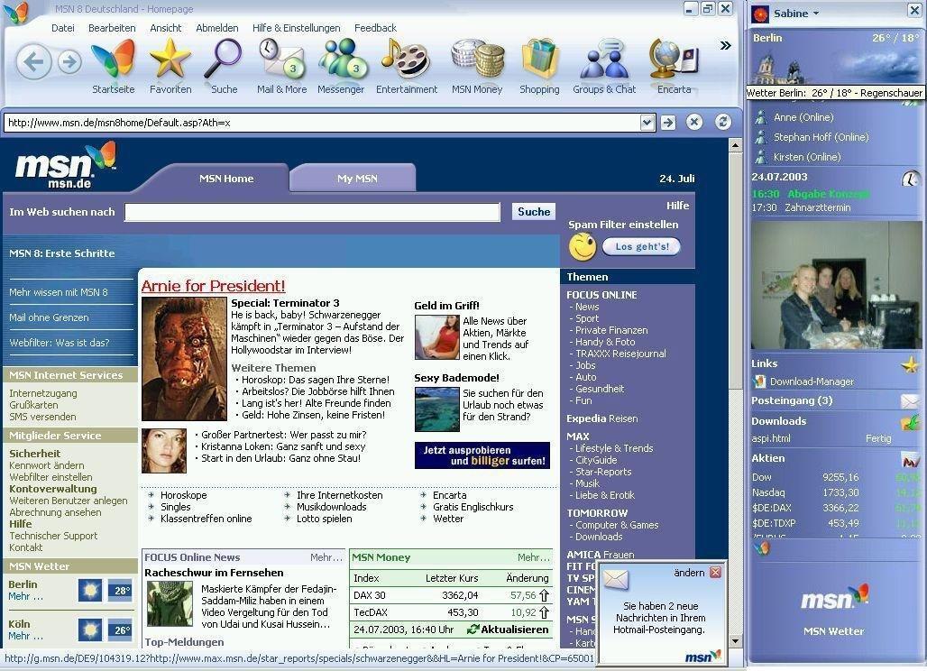 MSN 8 Start