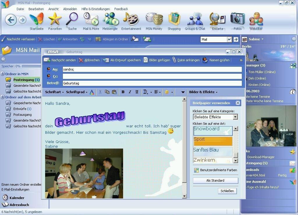MSN 8 E-Mail