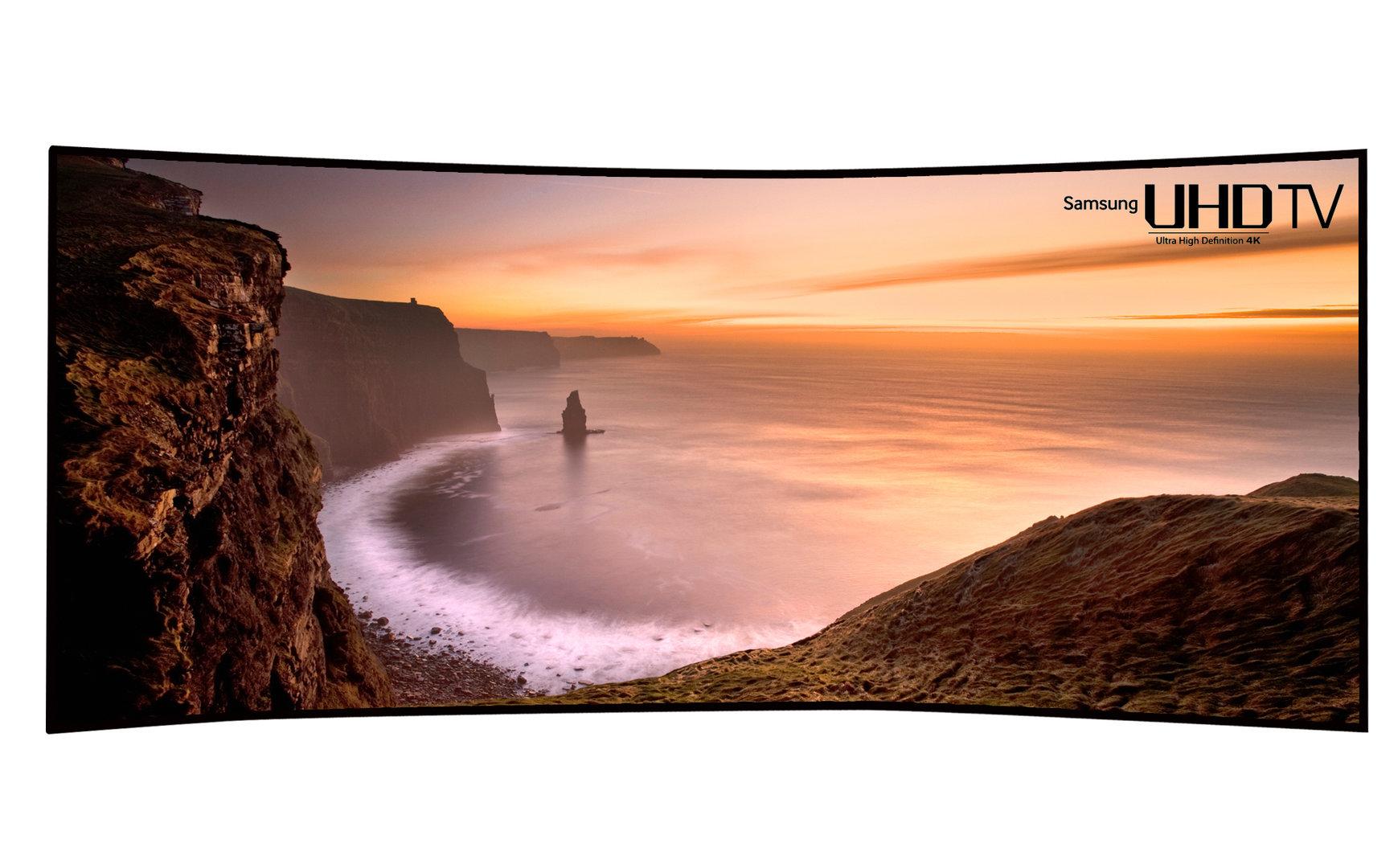 Samsungs gewölbter UHD-TV mit 105 Zoll