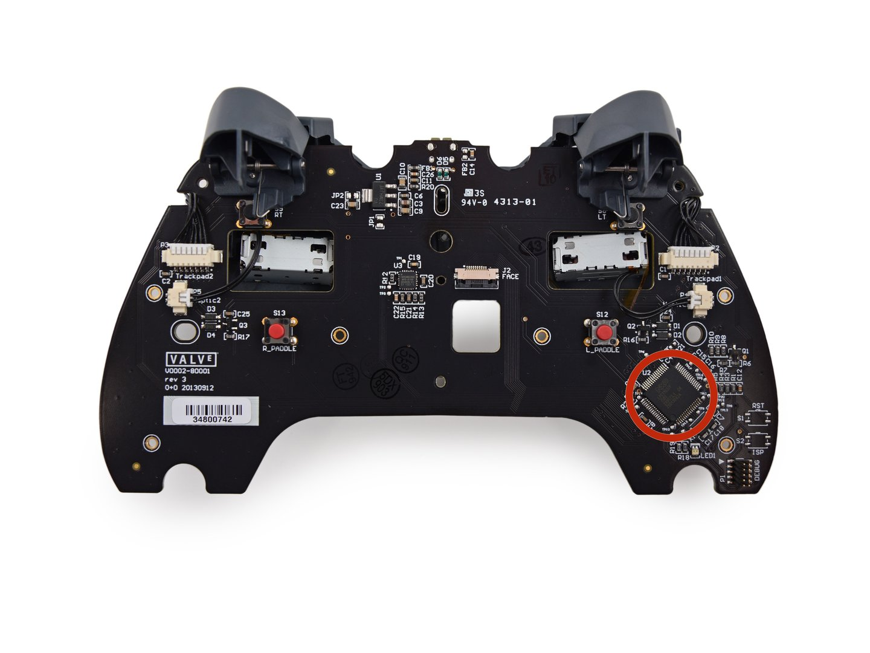 PCB des Controllers mit Controller (NXP LPC11U37F)