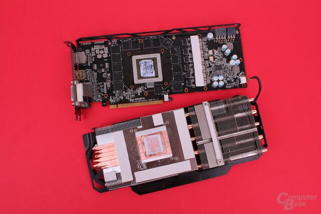 Gigabyte Radeon R9 290X WindForce - Kühlsystem von unten