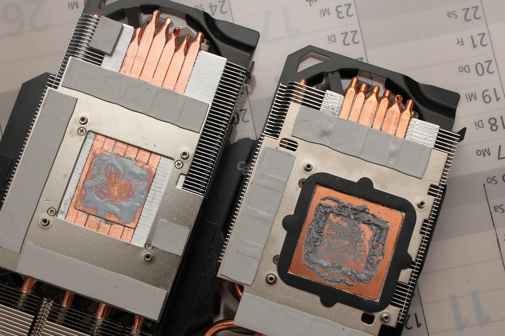 WindForce 3X: links R9 290X, rechts GTX 780 Ti