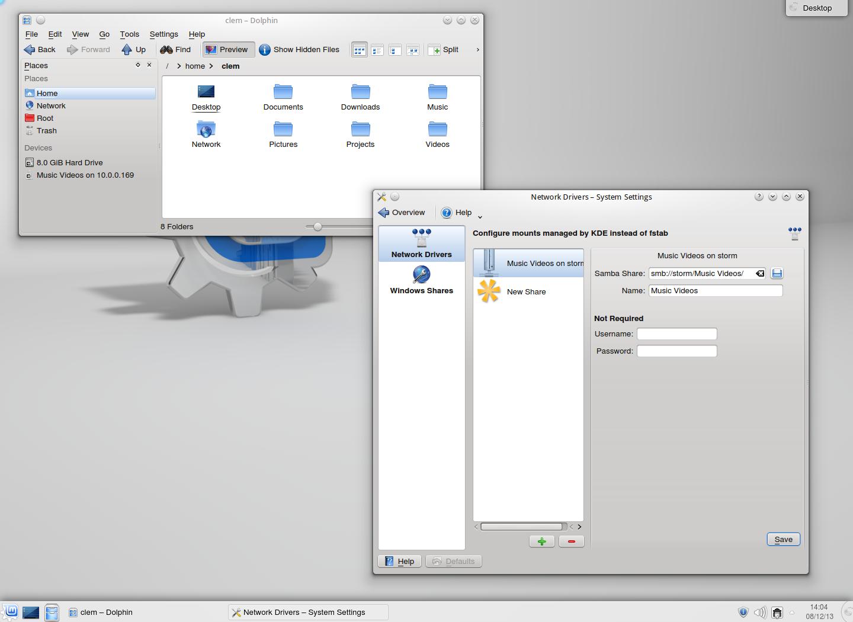 KDE mit Samba Mounter
