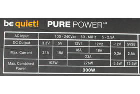 be quiet! L8 300 Watt -Datenblatt