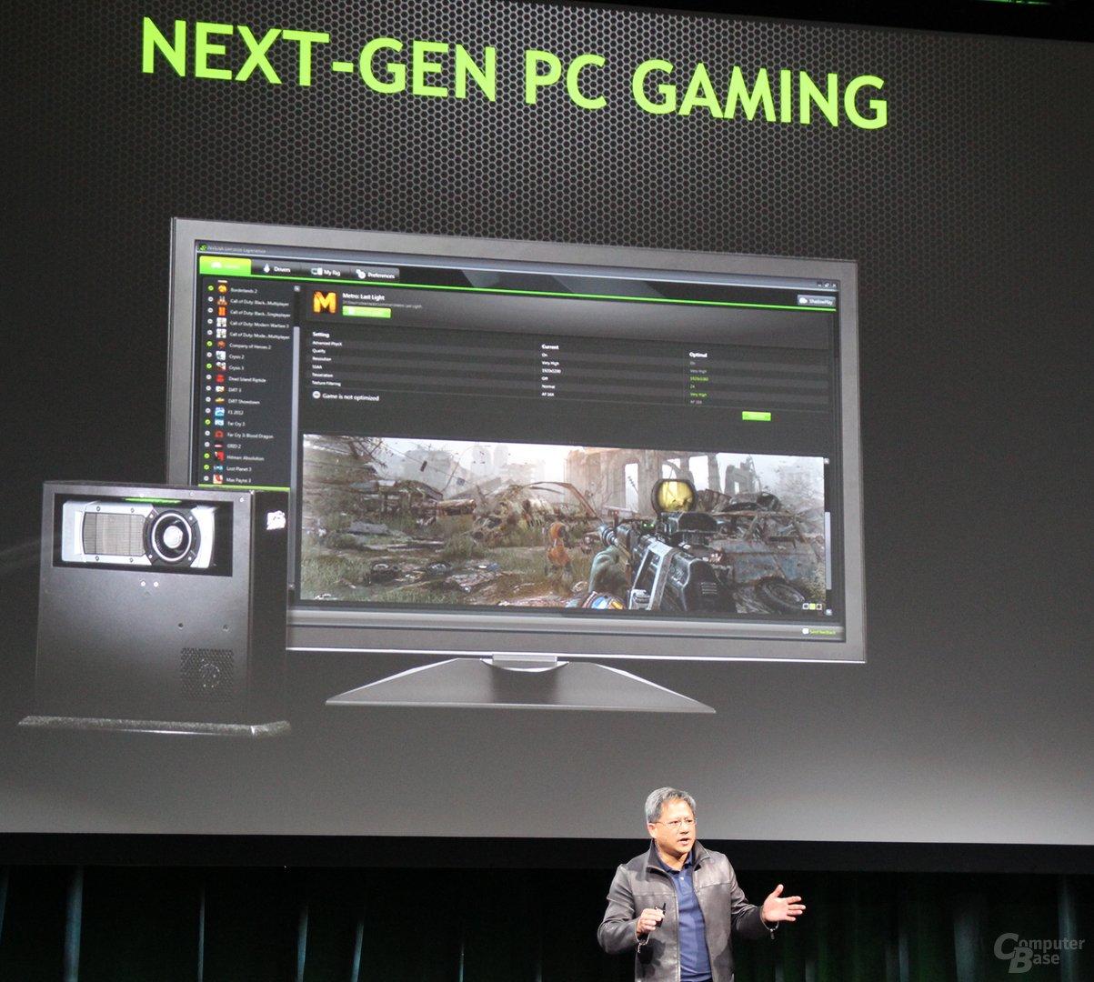 Nvidia-CEO Jen-Hsun Huang eröffnet die PK zur CES 2014