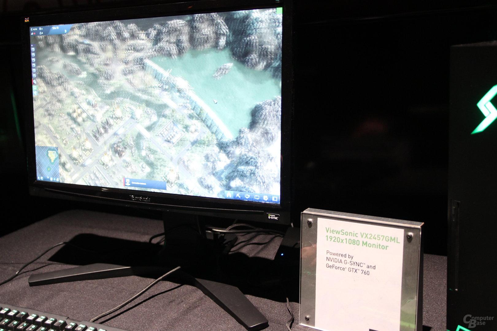 ViewSonic-Monitor mit Nvidias G-Sync