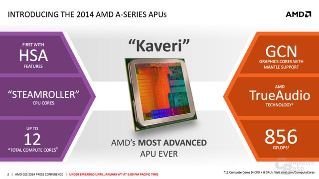 AMD enthüllt Kaveri zur CES 2014