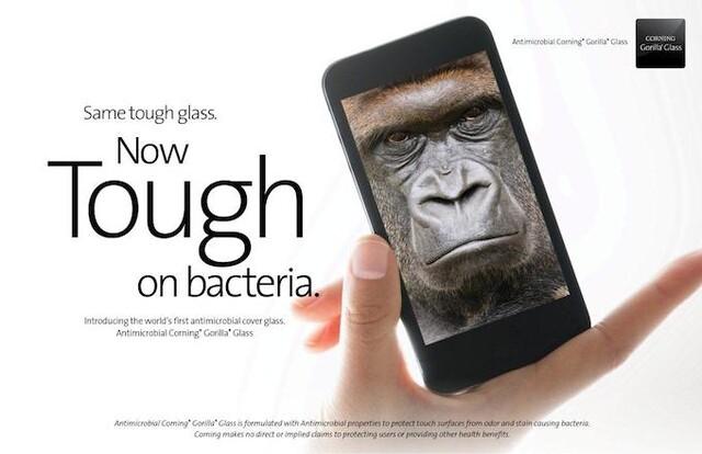 Antibakterielles Gorilla Glas von Corning