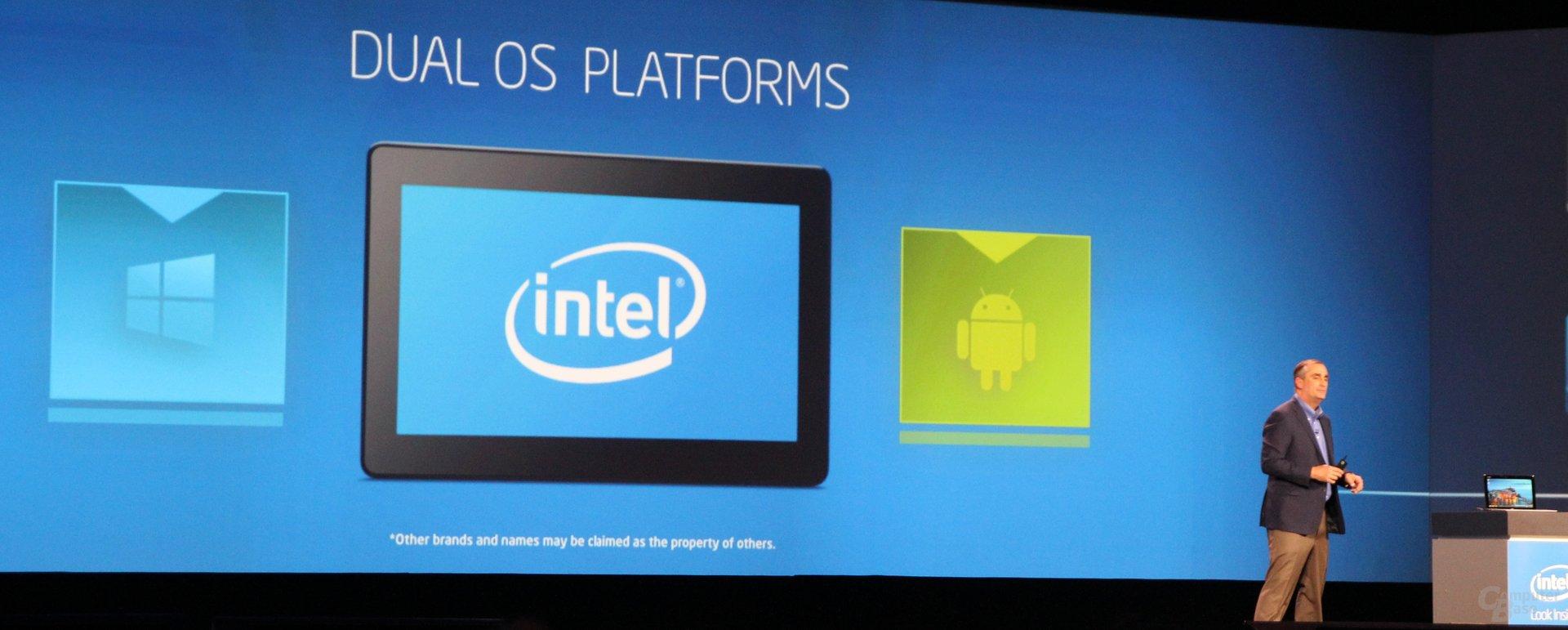 .. von Windows bis Android und x86 (auch als Dual-OS-Devices) bis ARM