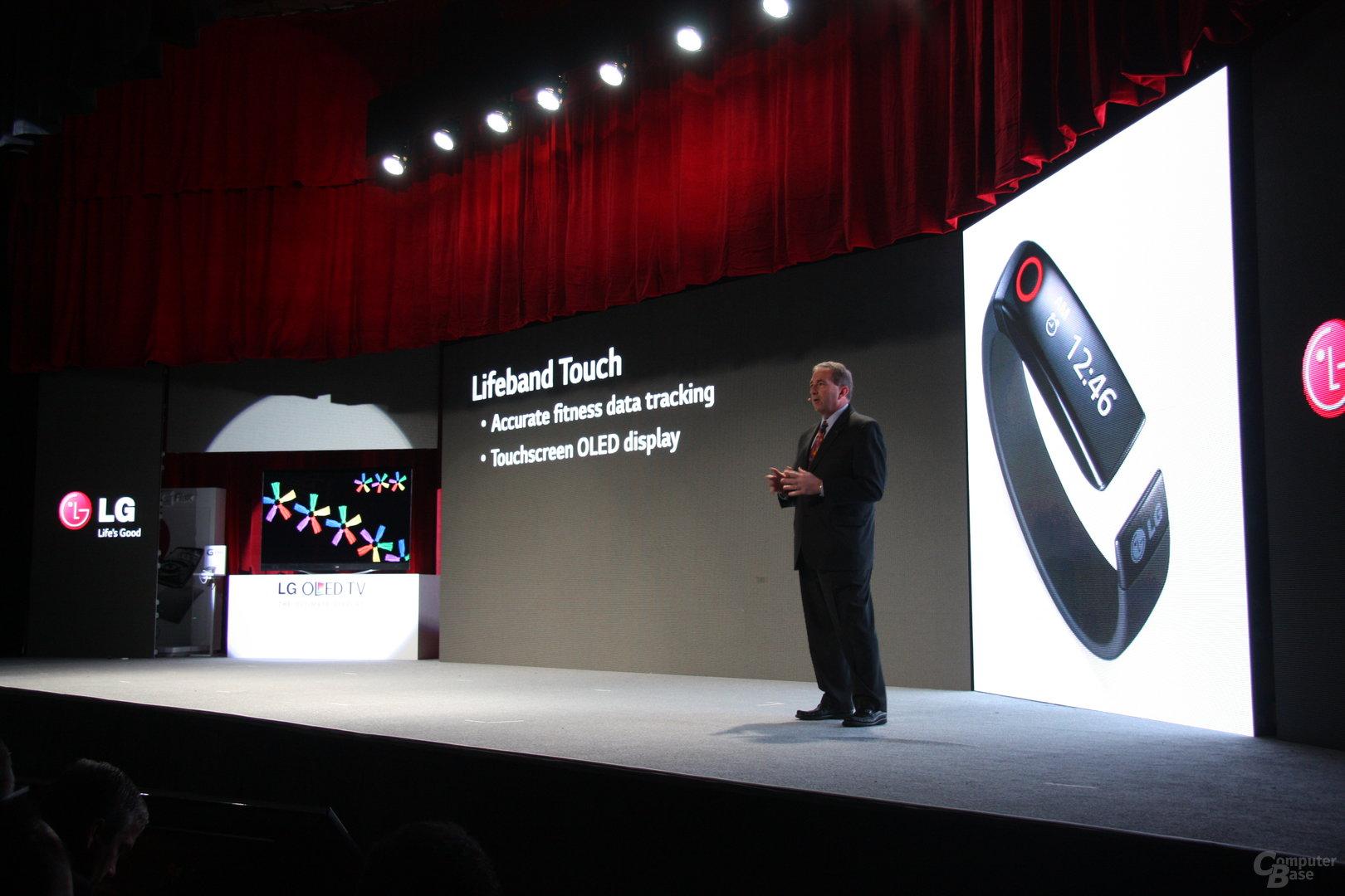 Präsentation des LG Lifeband Touch