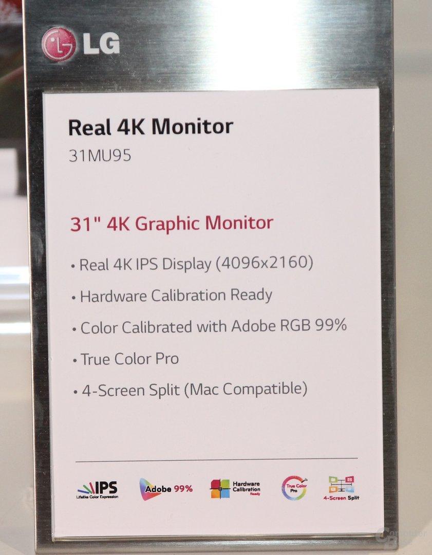 Statt 3.840 Pixel hier echte 4K