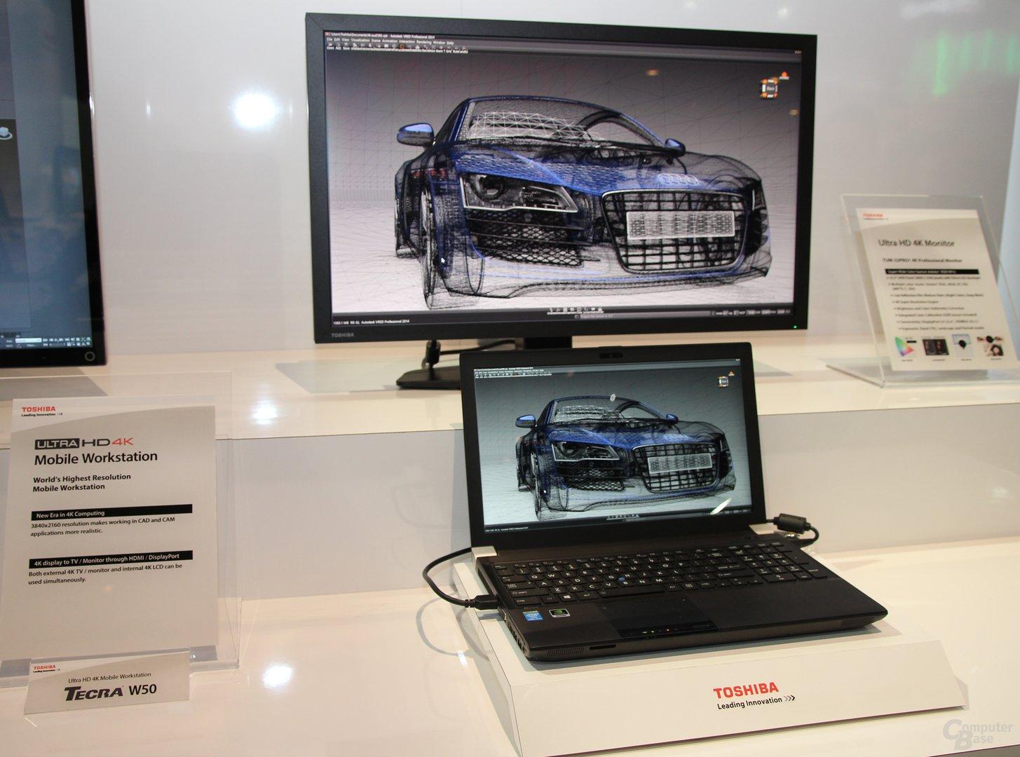 Toshibas 4K-Display und 4K-Notebook