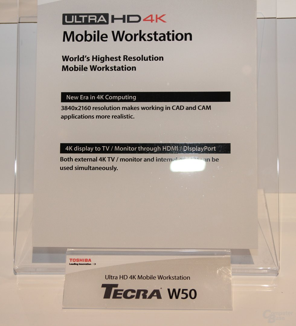 Toshiba-Notebooks mit 4K-Display