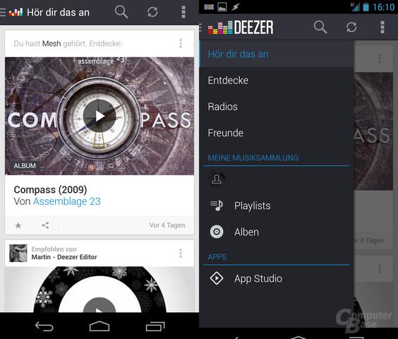 Deezer mobil