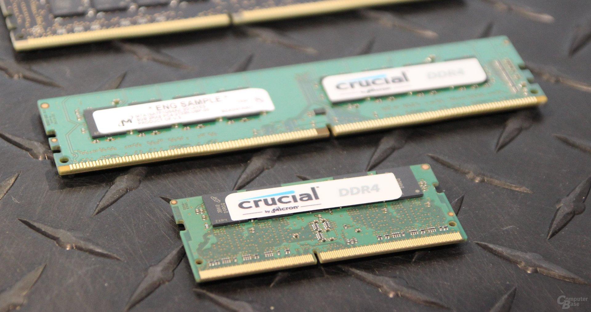 DDR4-Speicher von Crucial für alle Segmente
