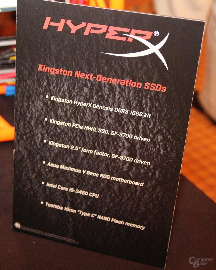 Kingstons SSDs mit SF3700-Controller für bis zu 1,8 GByte/s
