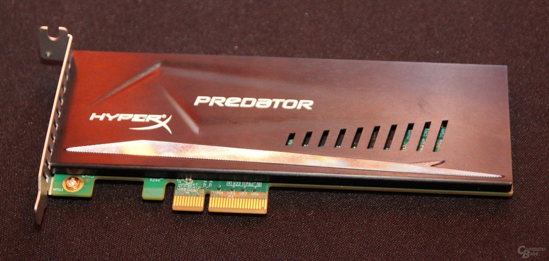 Kingston HyperX Predator dank PCIe-x4-Interface mit 1,8 GByte/s