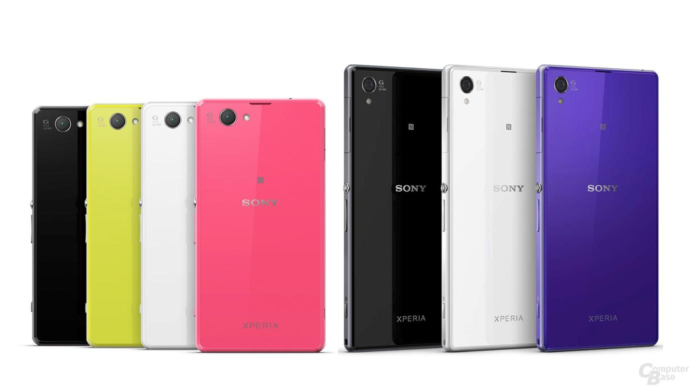 Sony Xperia Z1 Compact (links) und Xperia Z1