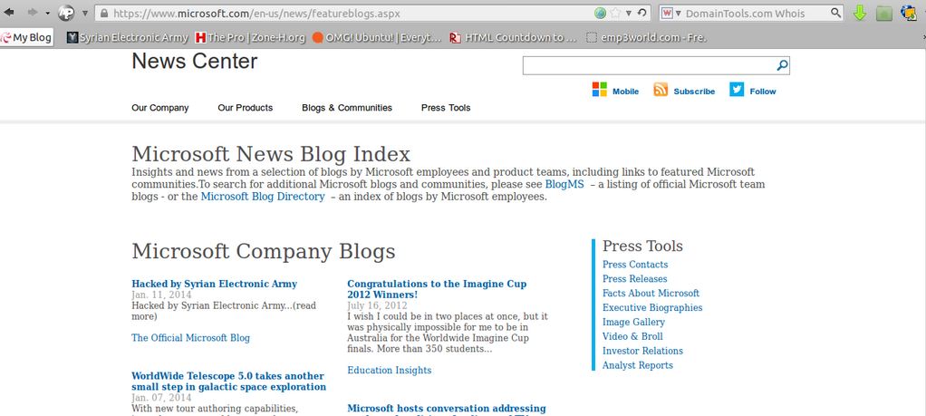 Microsoft-Blog gehackt
