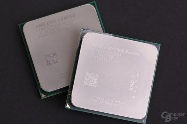 A8-7600 (Engineering Sample, hinten) und A10-7850K