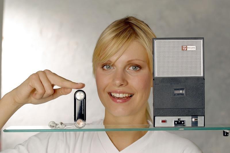Philips Key Ring MP3 und Philips Taschen Recorder im Vergleich