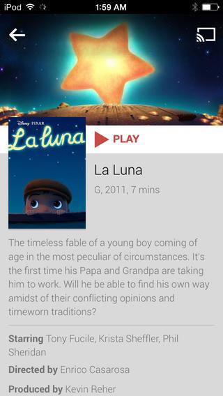 Google Play Movies & TV auf iOS
