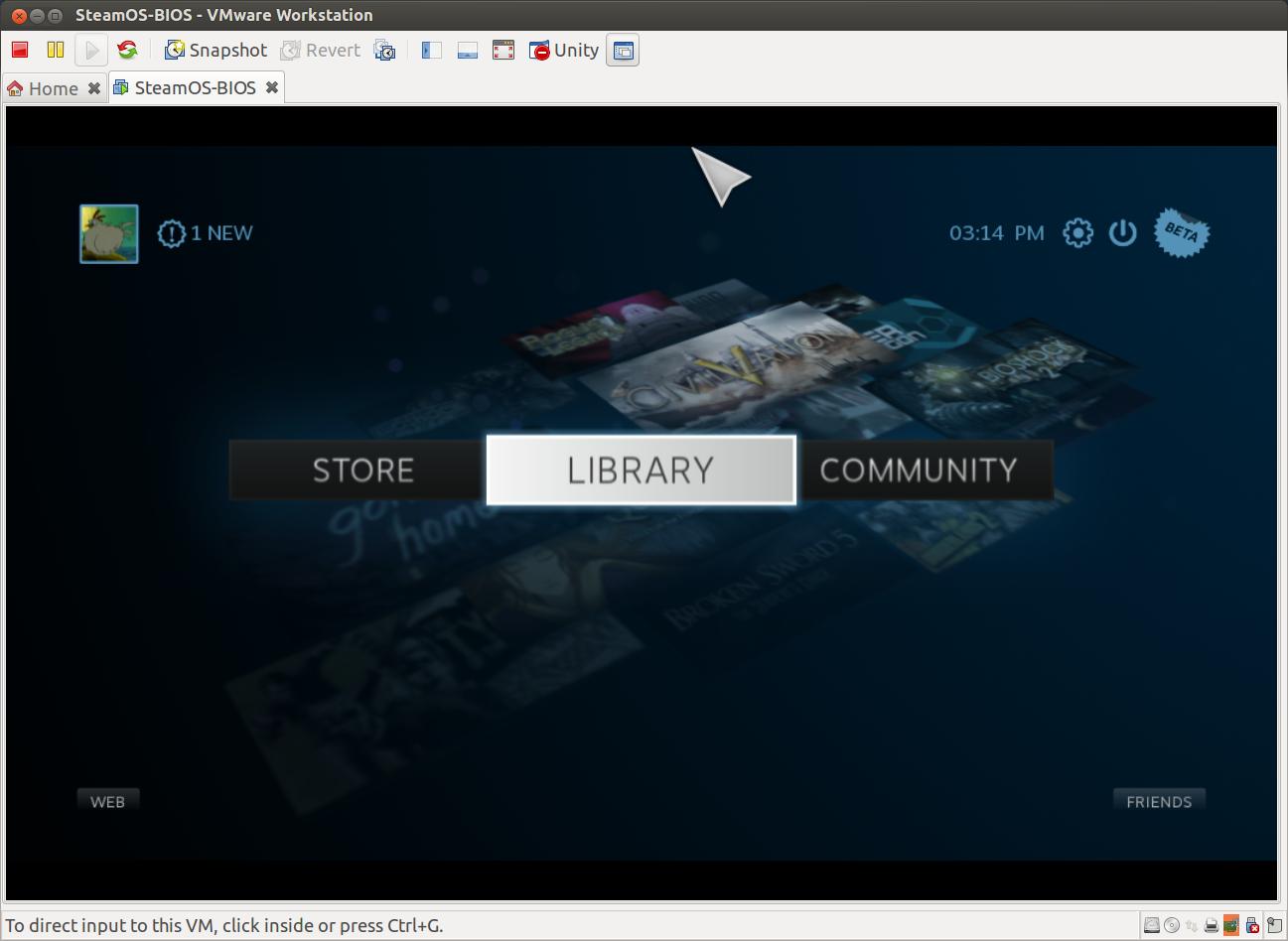 SteamOS unter VMWare
