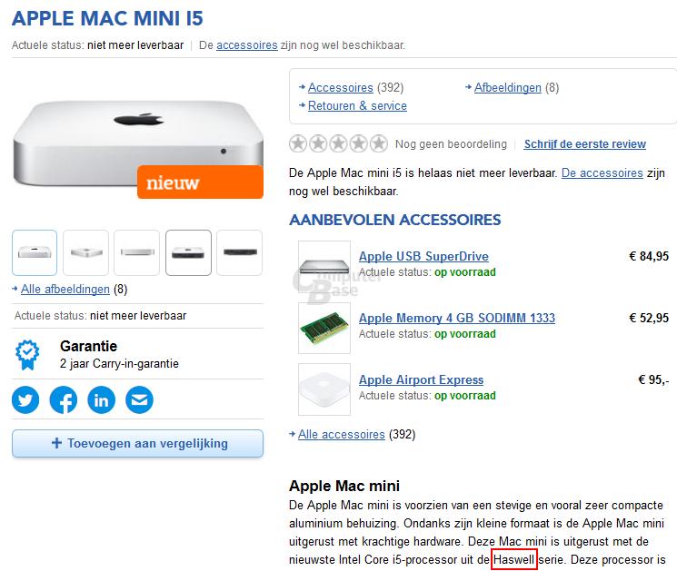 Neuer Mac Mini mit Haswell