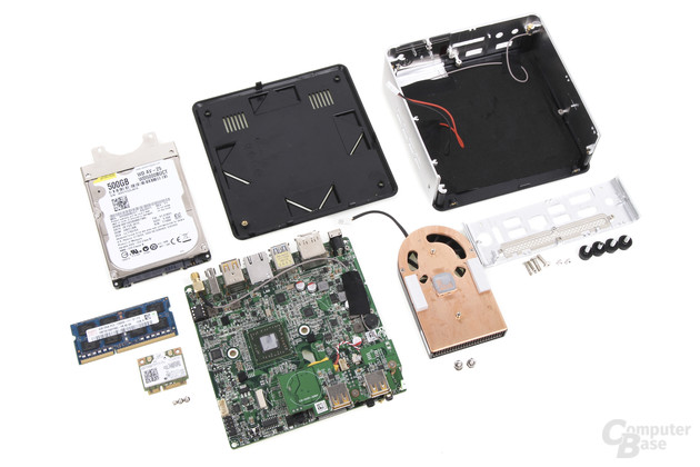 Zotac Zbox nano AQ01 Plus komplett zerlegt