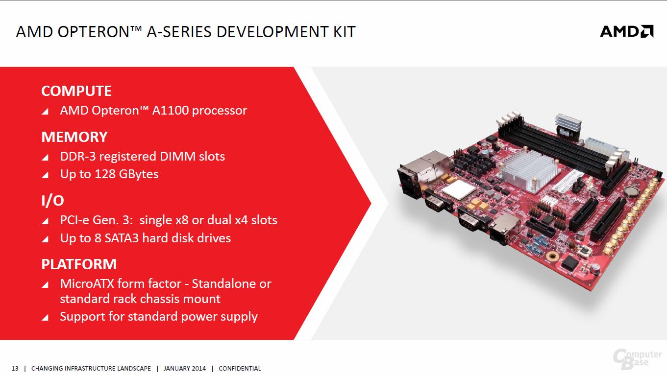 """AMDs 64-Bit-ARM-CPU """"Seattle"""" samt Entwicklerkit"""