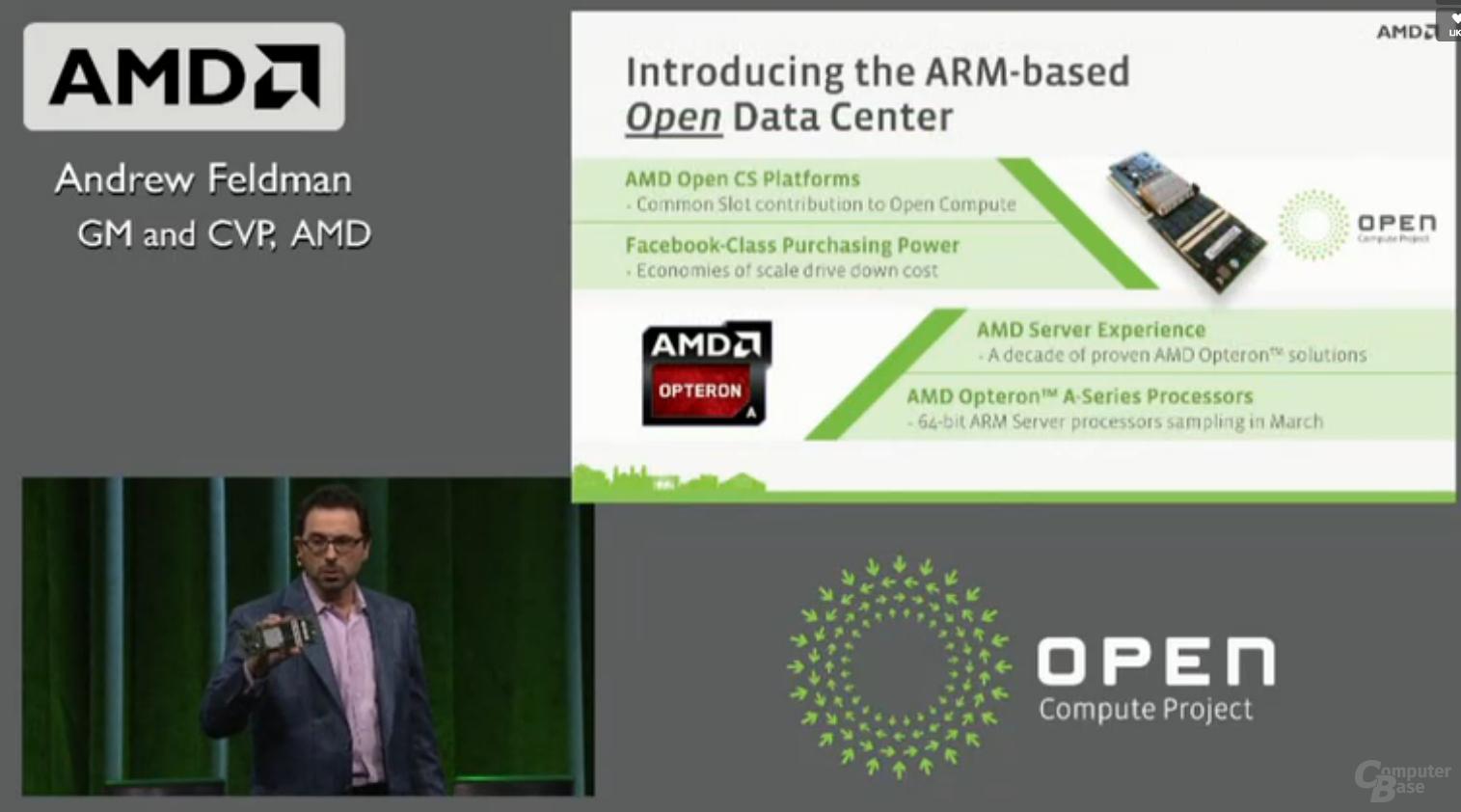 """Live-Webcast zu AMDs 64-Bit-ARM-CPU """"Seattle"""""""