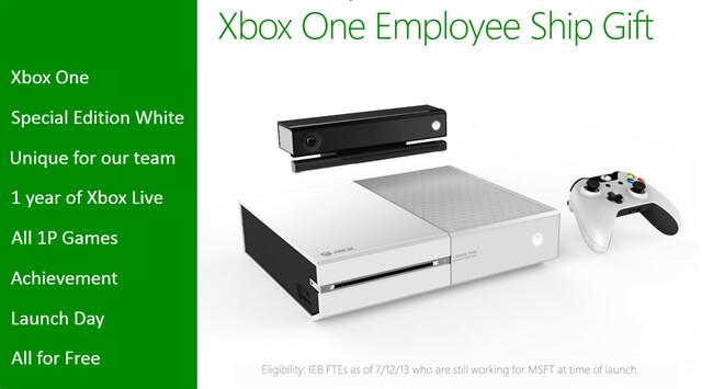 Weiße Xbox One für Mitarbeiter
