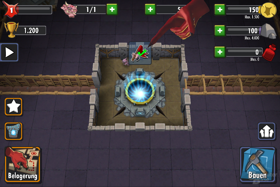 Dungeon Keeper auf dem iPhone